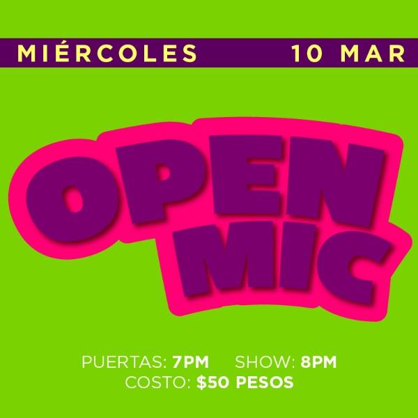 Open Mic 10 Marzo