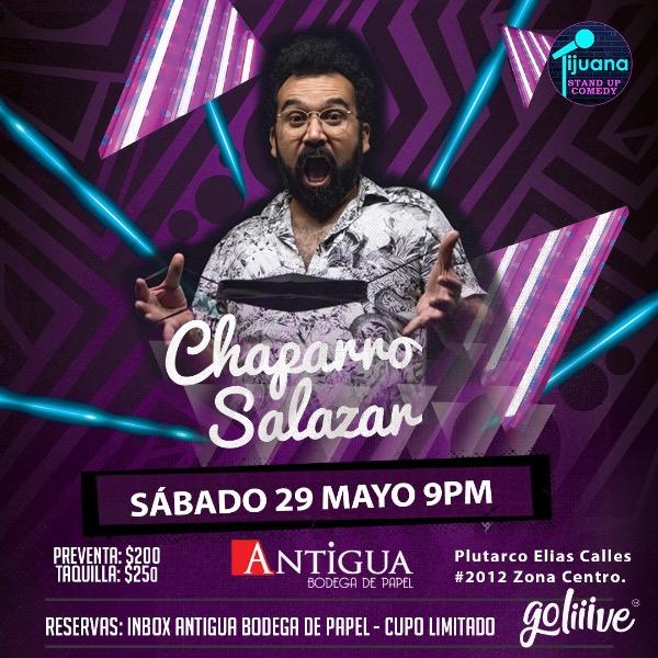 Chaparro salazar presenta Standup Comedy