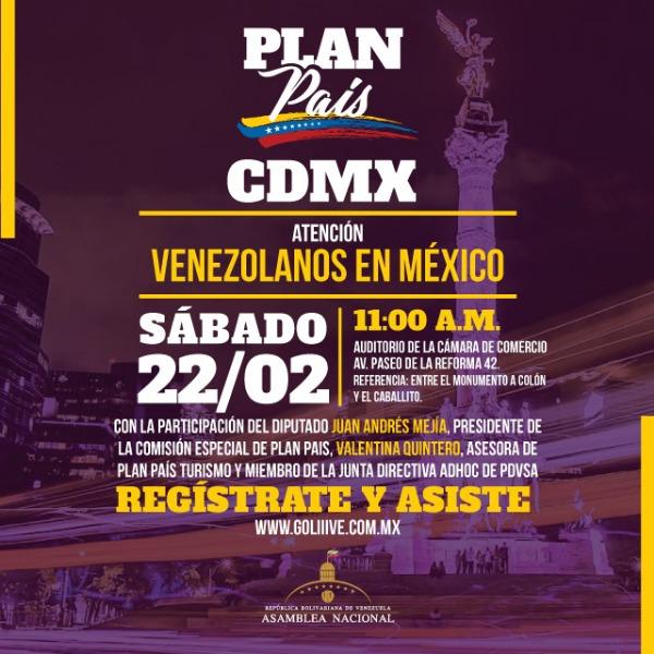 Plan País Venezuela en CDMX