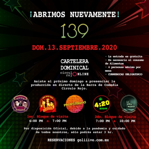 La Cartelera Dominical 13Sep