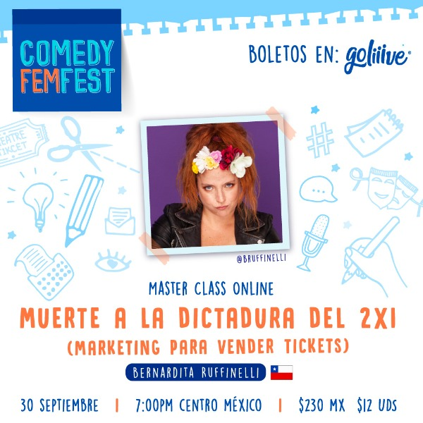"Masterclass ""Muerte a la dictadura del 2x1"" Marketing para vender Tickets"