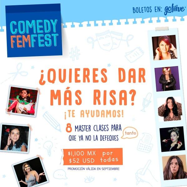 Comedy Fem Fest MasterClasses Promo Spetiembre MX