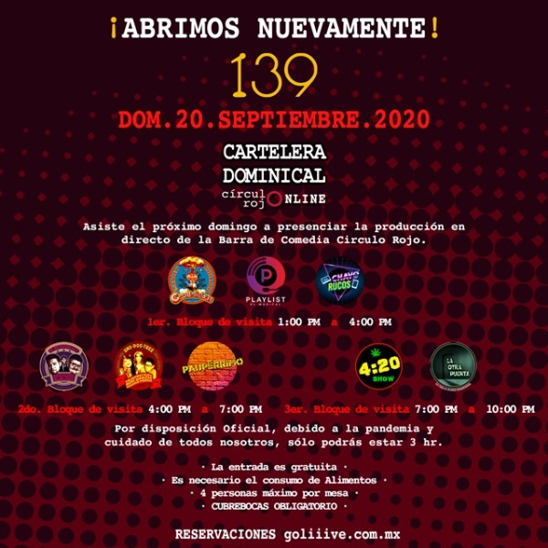 La Cartelera Dominical 20Sep