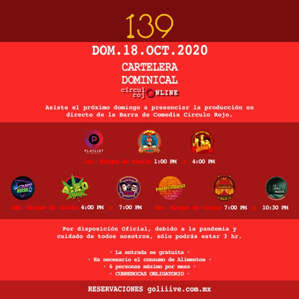 La Cartelera Dominical 18Oct