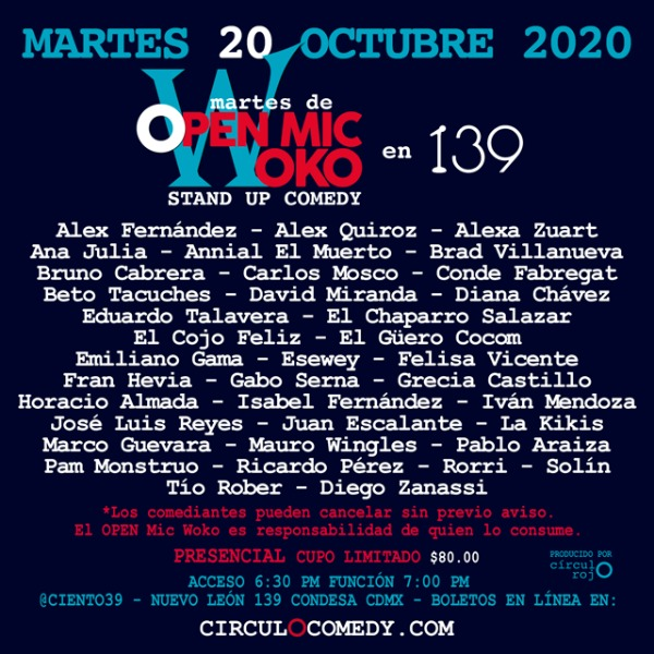 Open Mic Woko en 139 20Oct