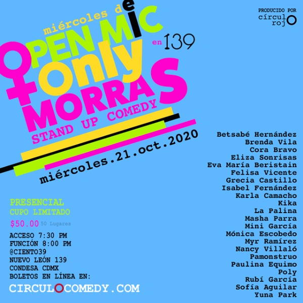 Open Mic Only Morras Stand Up Comedy 21Oct