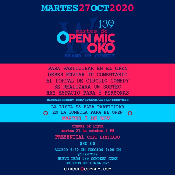Open Mic Woko en 139 27Oct