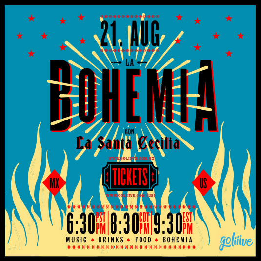 La Bohemia con La Santa Cecilia